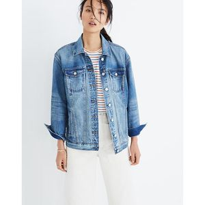 NWT Madewell The Oversized Blue Jean Jacket